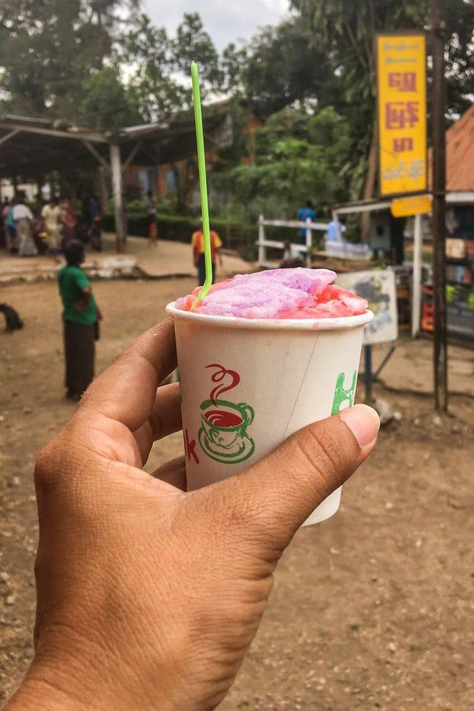 Railway ice cream Myanmar