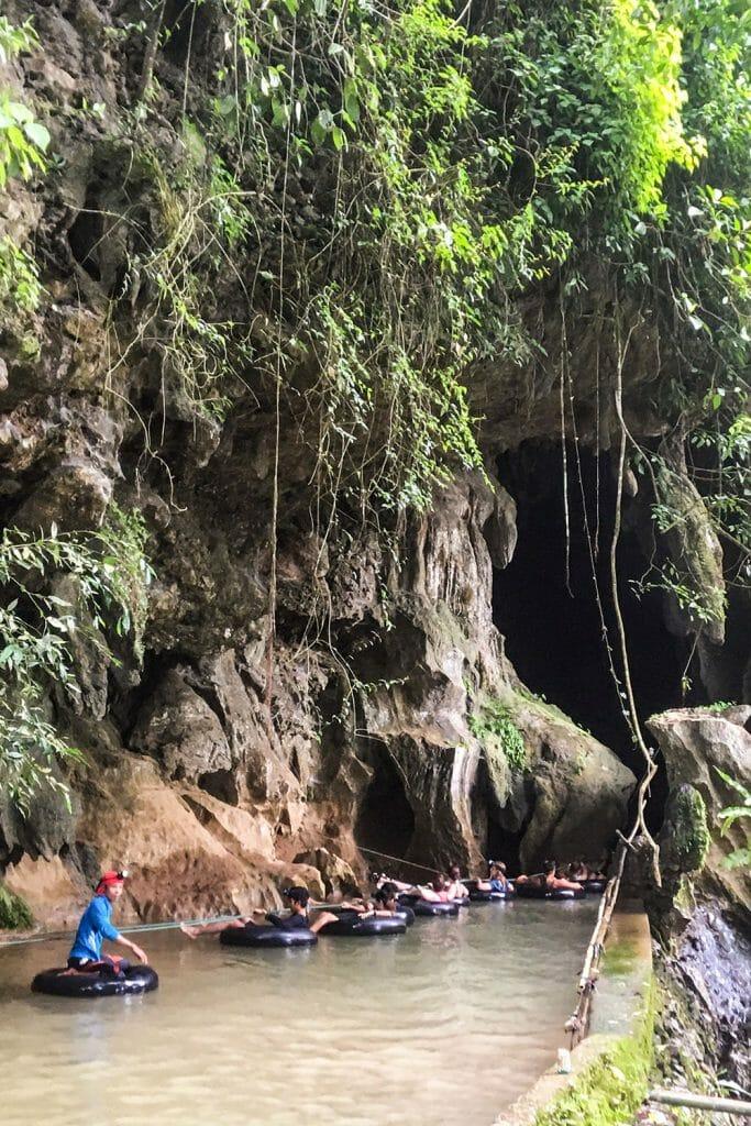 Cave tubing in Vang Vieng, Laos
