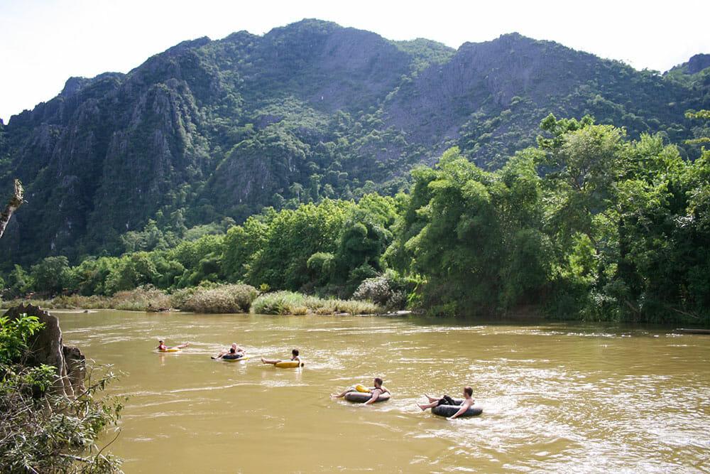 Vang Vieng Tubing, Laos