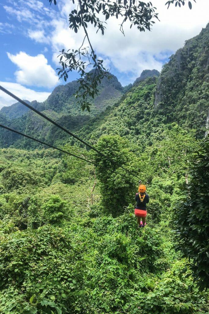 Zip Lining in Vang Vieng, Laos