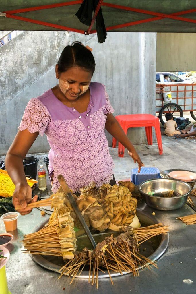Street Food Yangon Myanmar Burma
