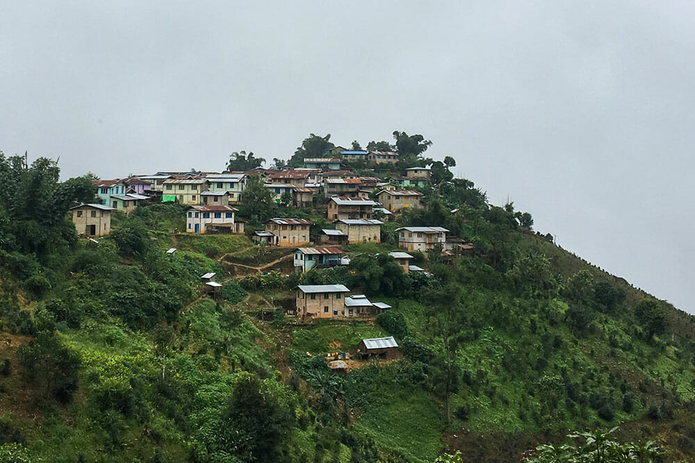 Hill tribe village Myanmar Burma
