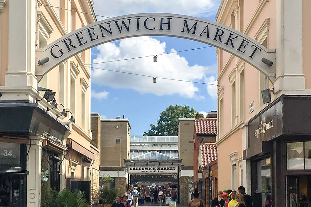 Entrance to Greenwich Market London