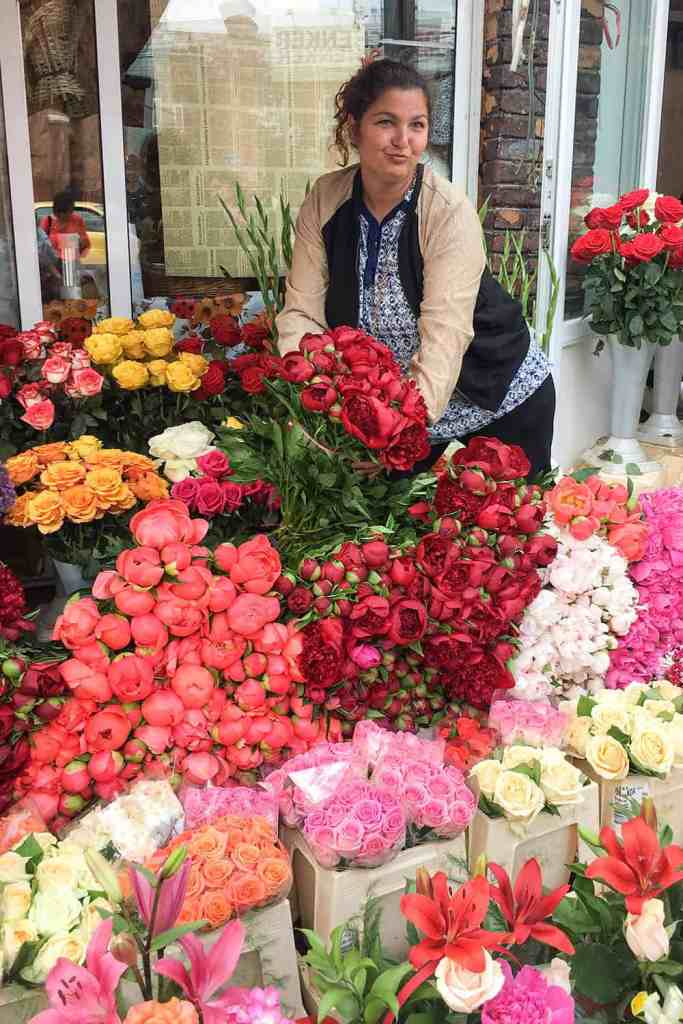 Bucharest Romania Flower Market Rroma