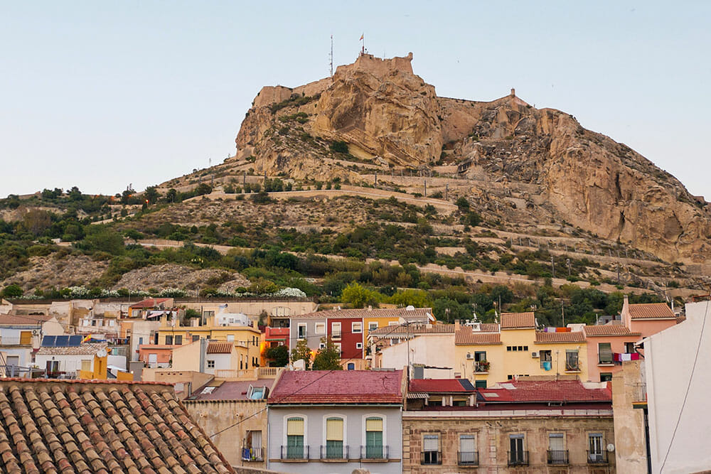 Alicante Spain Barrio Santa Cruz Old Town Castle