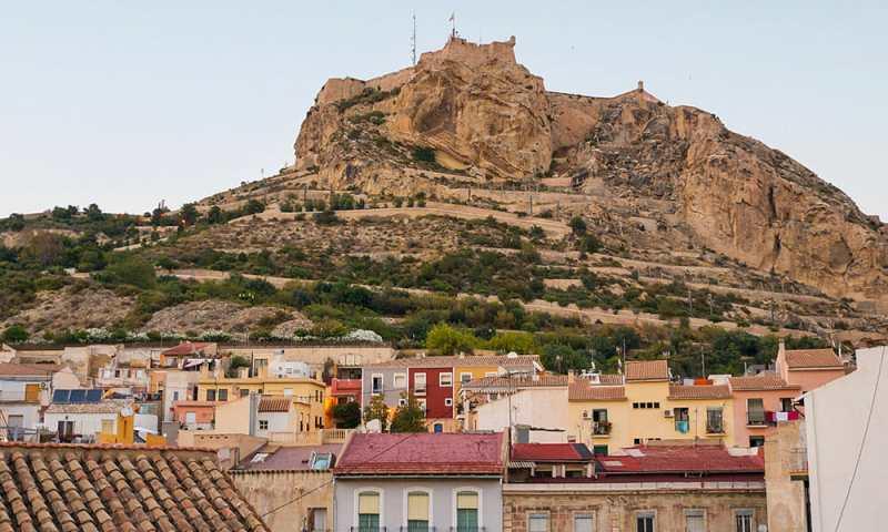 Alicante Spain Barrio Santa Cruz Old Town Castle