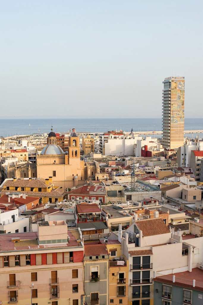 Alicante Spain Barrio Santa Cruz Old Town
