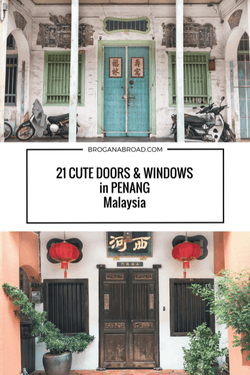 21 Cute Doors and Windows in Penang