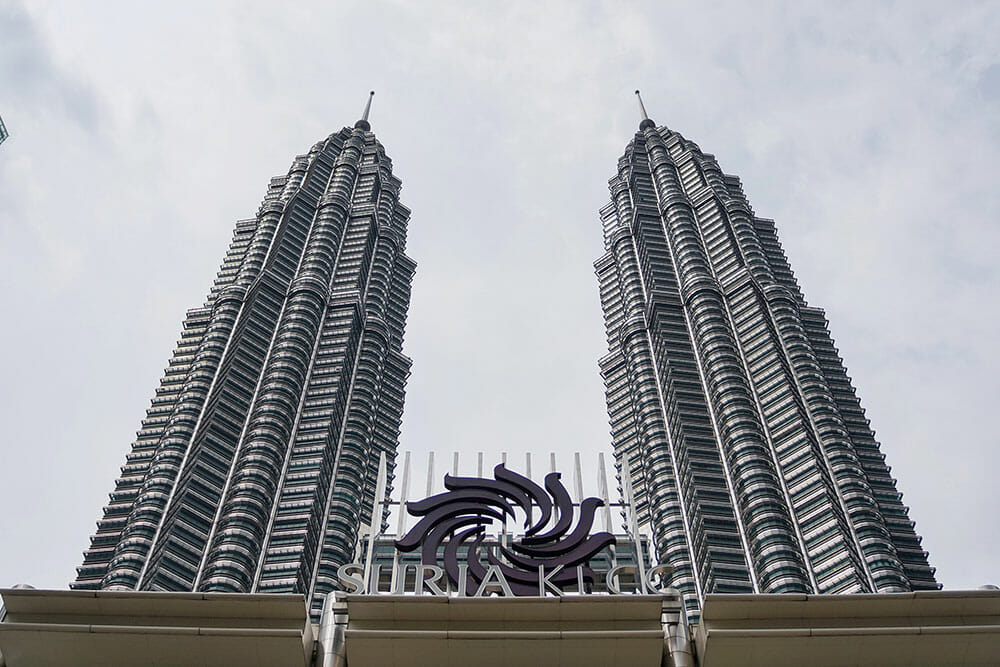 Petronas Towers From The Suria KLCC Entrance