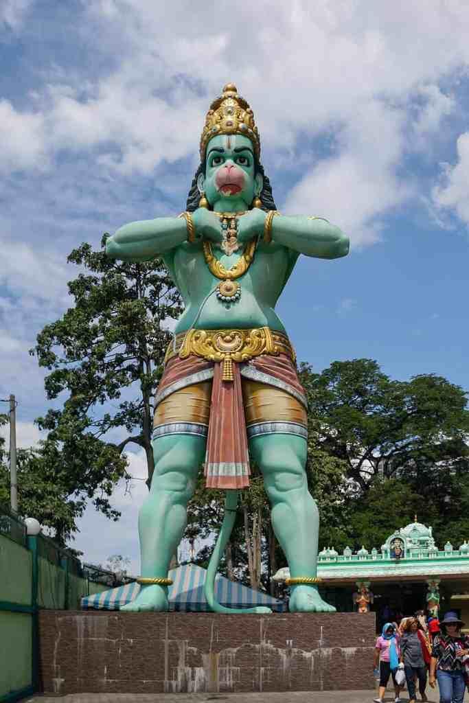 Statue of a blue Hindu Monkey God