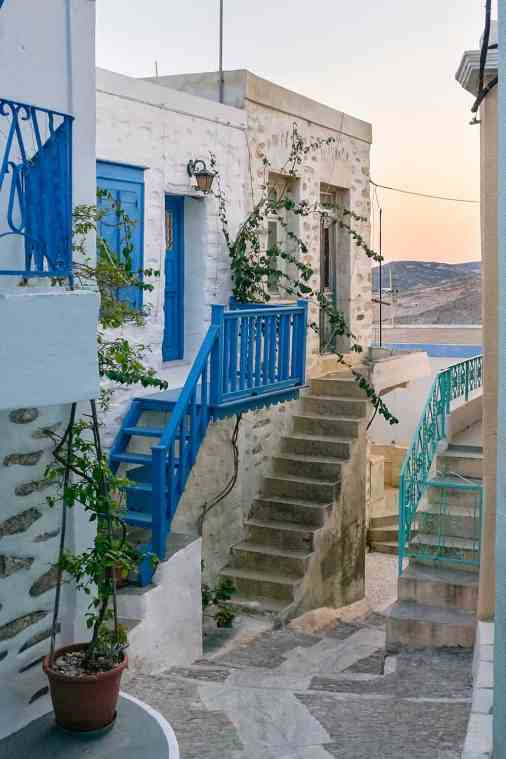 Ano syros alley greece