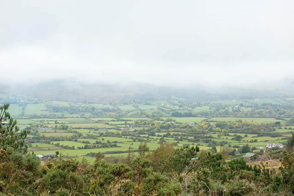 Glenasmole Valley green fields, Dublin Ireland
