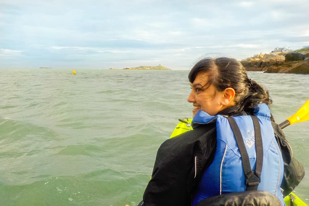 Kayaking in Dalkey, County Dublin Ireland