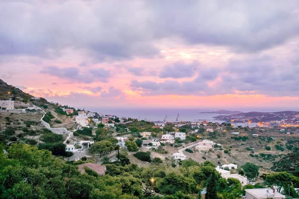 sunrise in syros greece