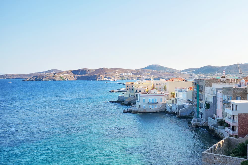 Vaporia district syros greece