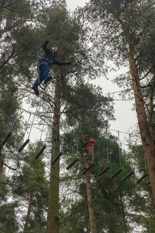 Adventure in Dublin Zip it tree top course Dublin Ireland