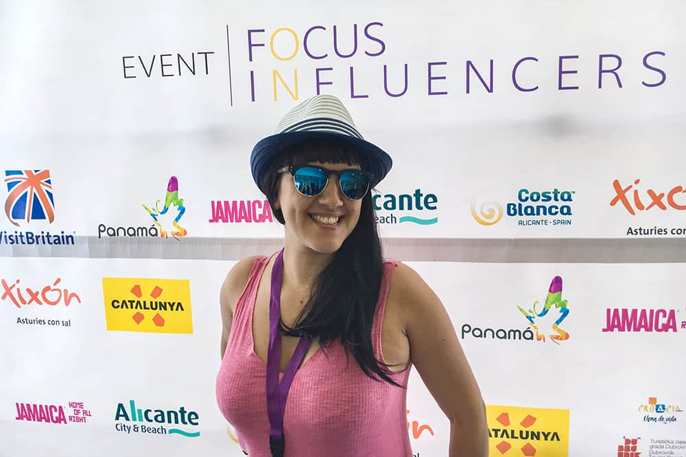 At the Focus on Influencers event in Alicante Spain