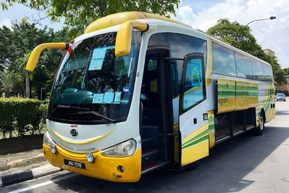 Bus from Singapore to Malacca Malaysia
