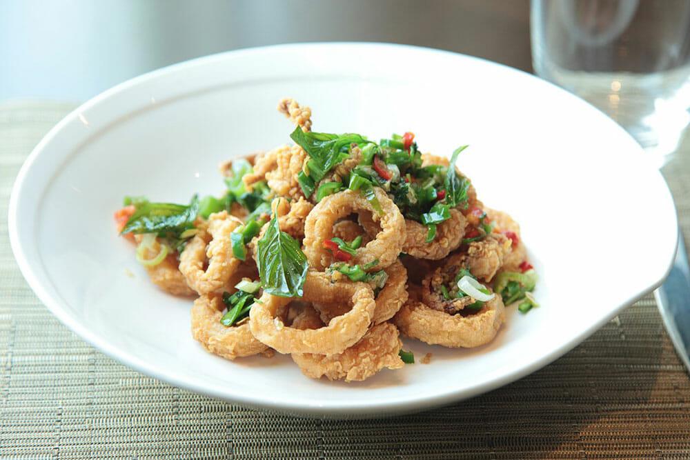 Greek Food Calamari Kalamarakia Tiganita
