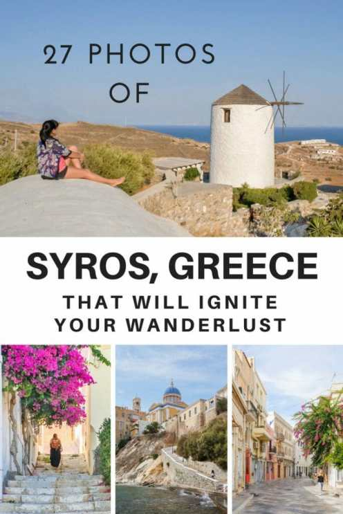 27 Photos of Syros, Greece that will ignite your wanderlust - Being the capital island of the Cyclades, Syros is an idyllic Greek island, with its jugged coastline, turquoise sea, bougainvillea-fronted and white-washed houses. So here are a few photos of #Syros that will make you want to pack your bags and catch the next flight to #Greece. #Europe