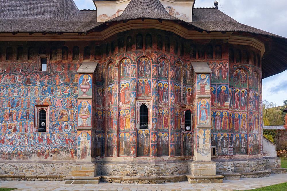 Moldovita painted Monastery, Bucovina Romania