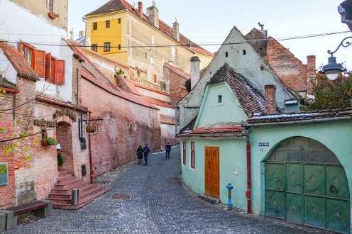 Colourful buildings of Sibiu, Romania