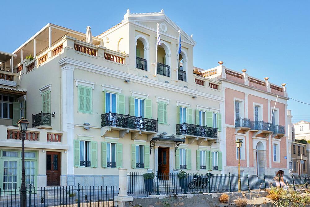 Vaporia District Mansions, Ermoupoli Syros Greece