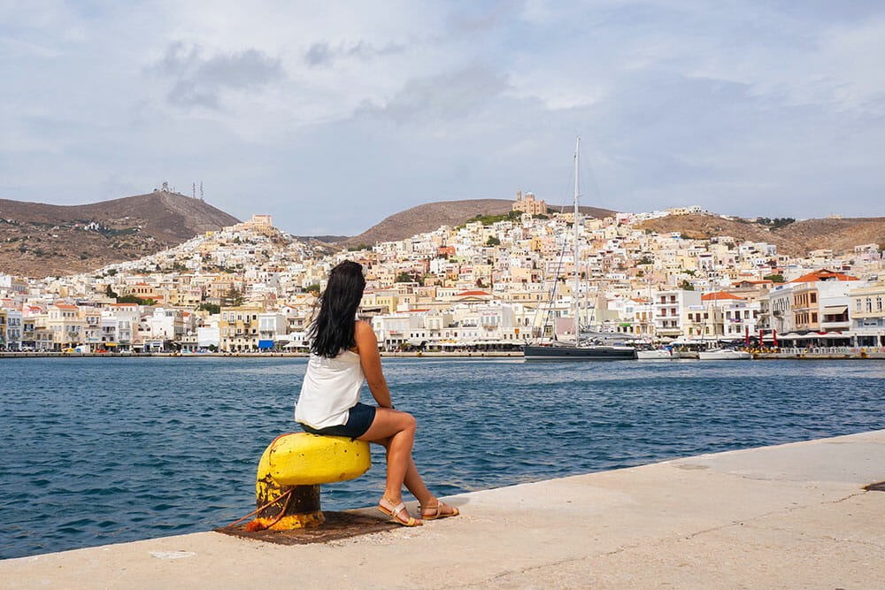 View of Ermoupoli from the port, Syros