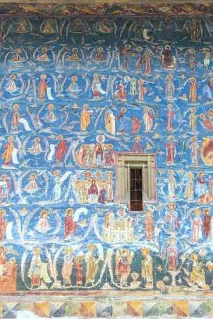 Voronet Blue at Voronet Monastery, Romania