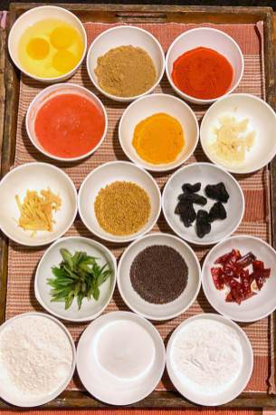 Selection of spices used for the cooking demonstration at Windermere Estate in Munnar, Kerala - #munnar #kerala #india