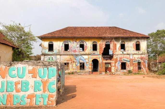 Some of Kochi's abandoned buildings have been used to display street art pieces