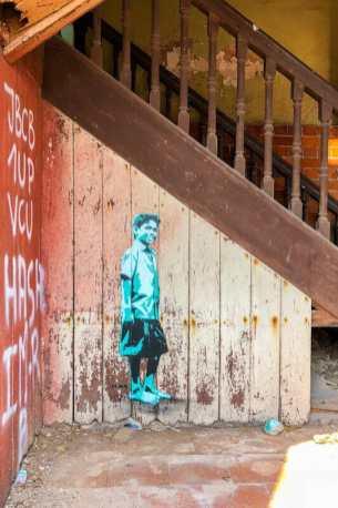 Street art piece by Tona in Kochi