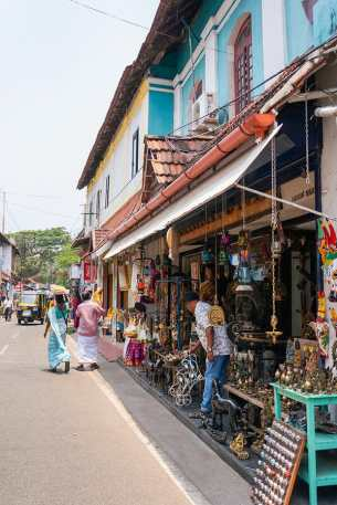 Souvenir shop in Jew Town Road in Fort Kochi