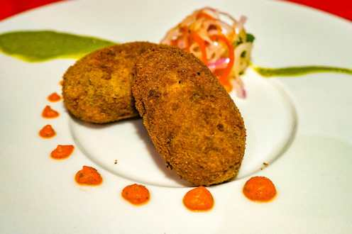 Syrian Style Beef and Tapioca Cutlets at History Restaurant Kochi