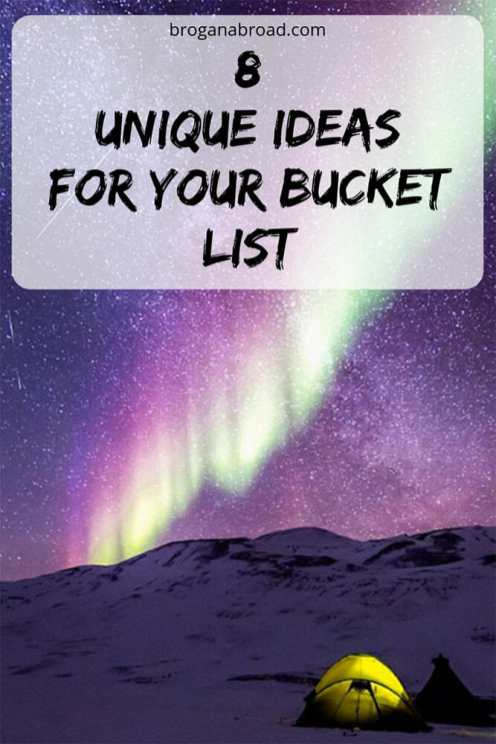 Unique bucket list ideas and experiences that you should add to your list if you want to get out of their comfort zone. If you're looking to challenge yourself and make the most of life, you need an adventure bucket list, so check out my recommendations for the ultimate bucket list of cool and unique ideas. This is my bucket list before I die, and I think it should be yours too. #bucketlist