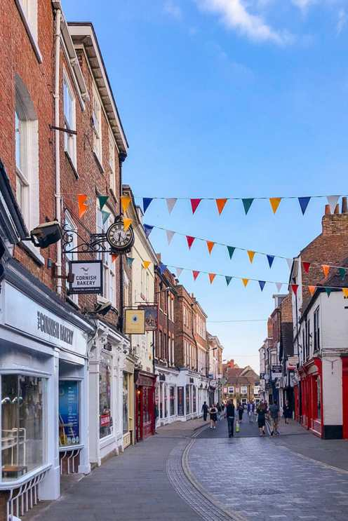 Cute Victorian street with bunting