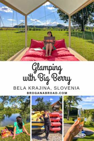 Read why you should go glamping in Slovenia with Big Berry, the best way to explore Bela Krajina in Slovenia. Big Berry, by the Kolpa River, brings a new concept to glamping – Big Berry is in fact a luxury lifestyle resort. Discover a new way to enjoy glamping in Slovenia with Big Berry, a luxury lifestyle resort with a difference. #slovenia