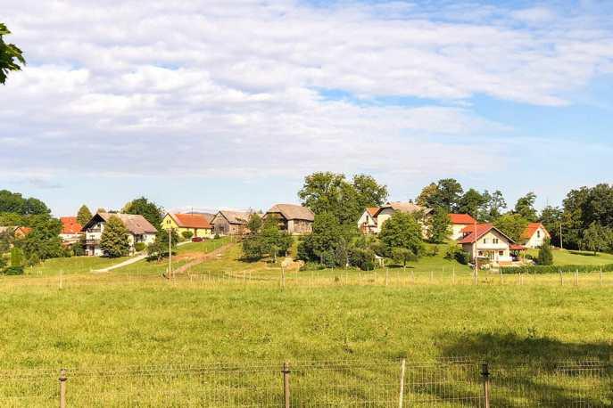 Slovenian Countryside near Big Berry in Bela Krajina