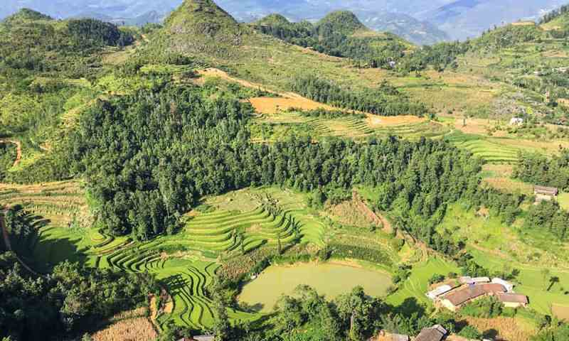 View of rices terraces and mountains in Vietnam, on of my personal seven wonders of the world