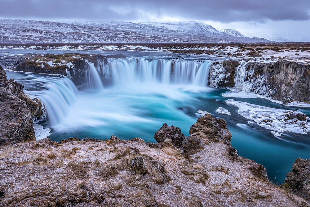 Horseshoe shape waterfall along the Iceland Ring Road