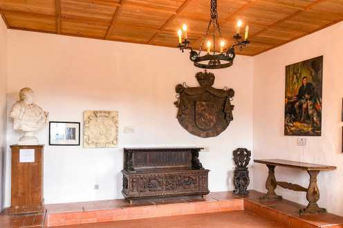 Room with medieval furniture inside