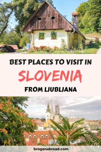 Ljubljana is the perfect base to explore Slovenia on day trips. Here are some of the best places to visit in Slovenia on day trips from Ljubljana. #slovenia #travel #balkans #Ljubljana