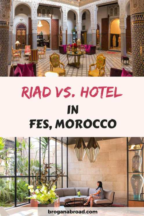 Should you stay in a Moroccan riad or in a hotel? If you are wondering where to stay in Fes, this post will help you decide. Based on my personal experience #Fes #Morocco #riad #hotel