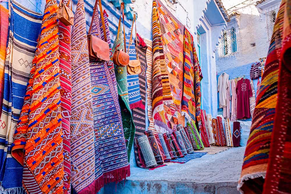 Carpet shop in Chefchaouen, Morocco