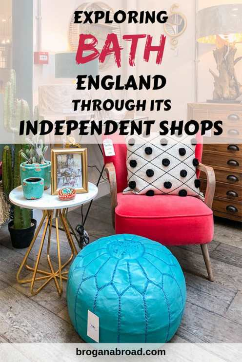 Explore Bath, England through the best independent shops, from bookshops to shoe shops. #England #Bath #UK #Travel