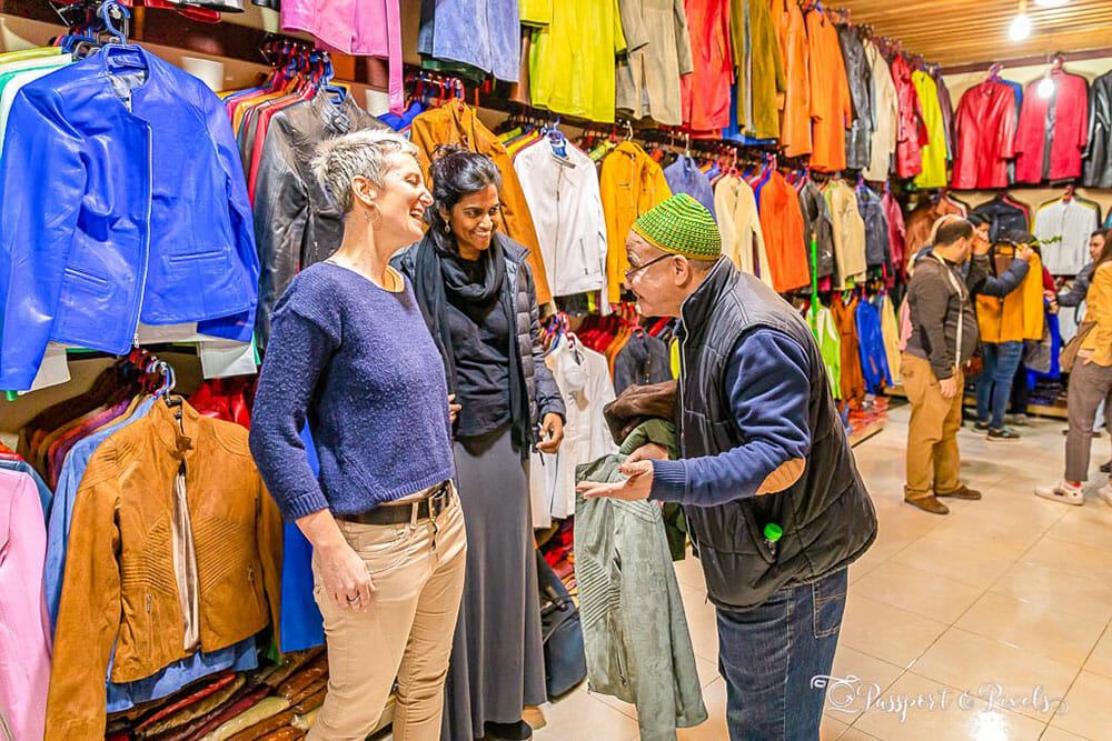 Shopping in Morocco for leather jackets