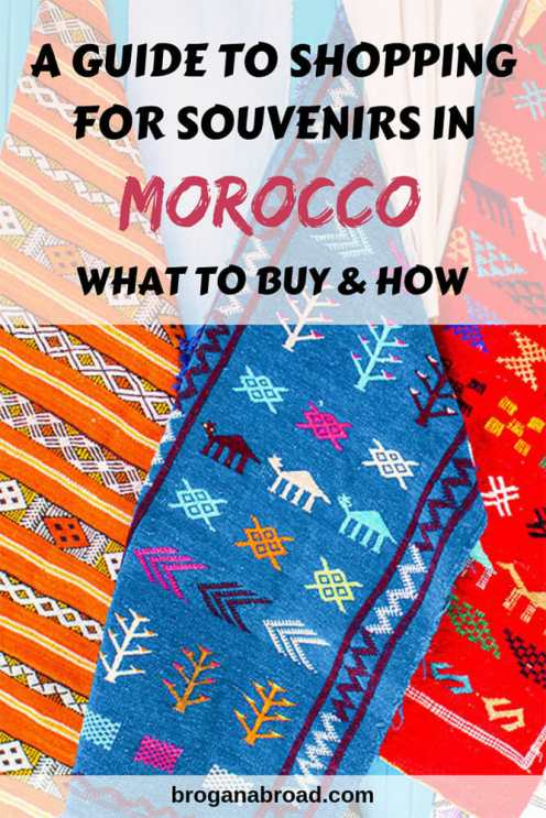 A guide to shopping in Morocco, including negotiating tips and what souvenirs to buy in #Morocco. #travel #souvenirs #shopping