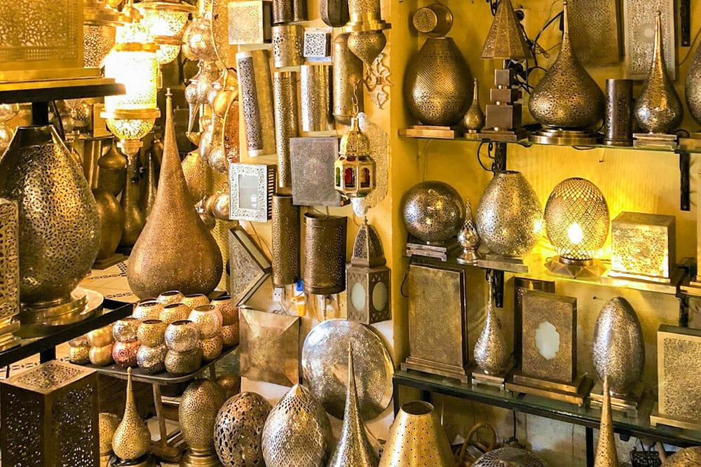 Lanterns are typical souvenirs from Morocco