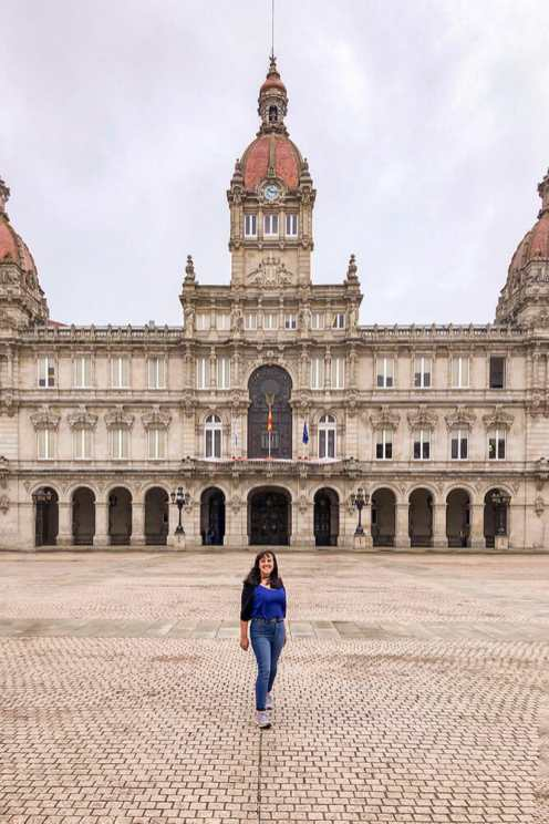 A-Coruña-Town-Hall,-Spain-2
