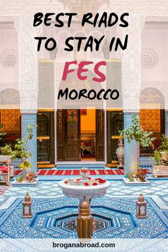 When visiting Fes in Morocco, staying in a riad, a traditional Moroccan house is a must. Here are some recommendations for the best riads in Fes, Morocco. #morocco #riad #fes #accommodation #travel # africa